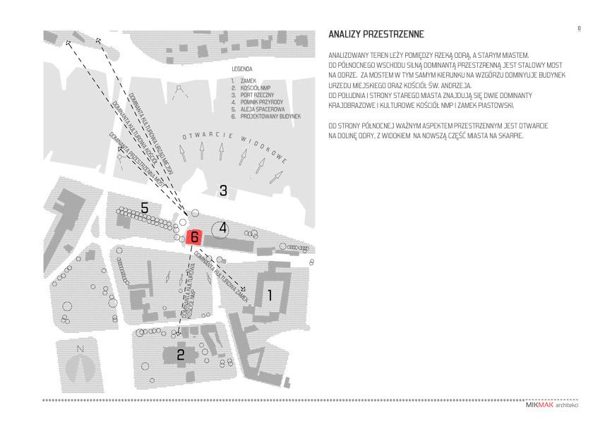 Analizy przestrzenne - projektu pawilonu handlowego w Krośnie Odrzańskim