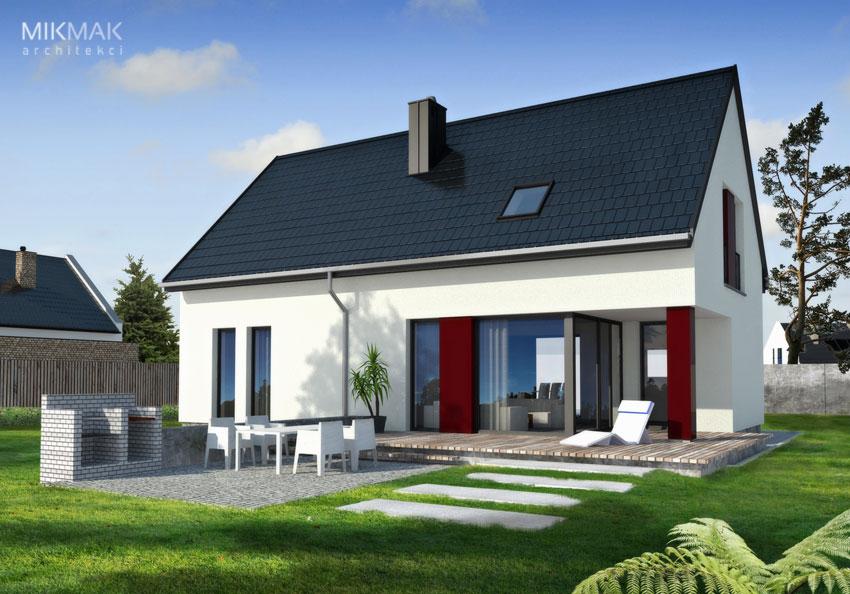 Projekt nowoczesnego małego domu z poddaszem