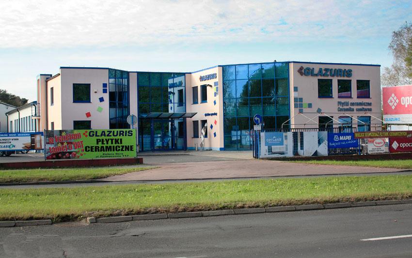 Nowe centrum GLAZURIS - widok z ulicy