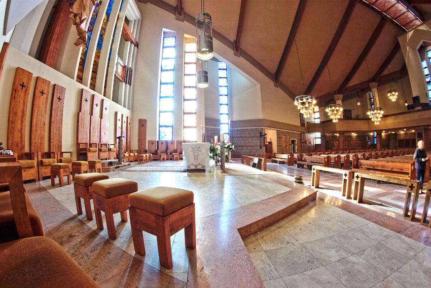 Wnętrze kościół pw. Św. Józefa w Nowej Soli