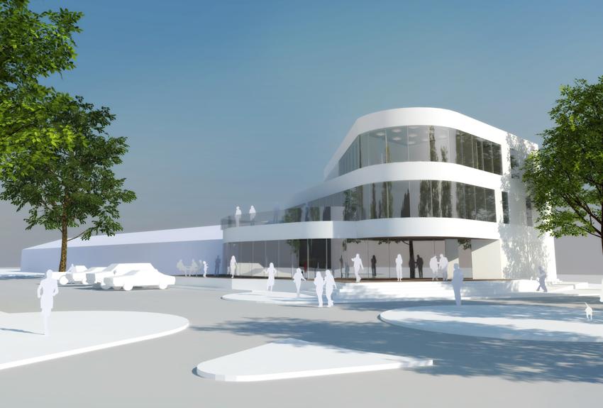Projektu przebudowy pawilonu handlowego w Krośnie Odrzańskim