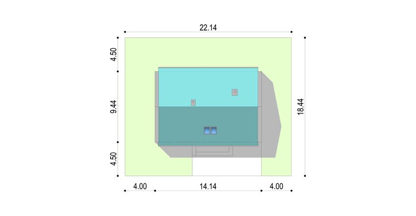 Projekt domu LEGATO - sytuacja