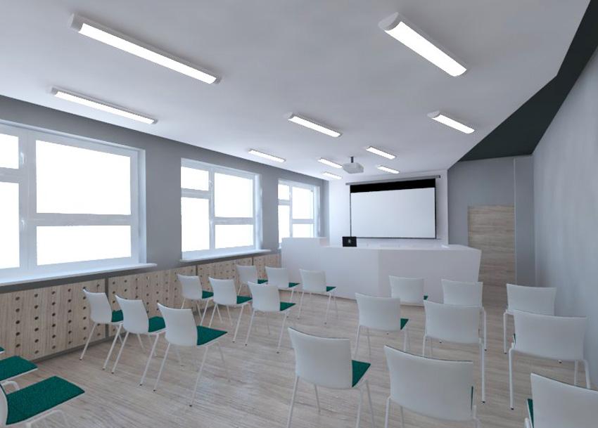 Widok na salę konferencyją przed modernizacją