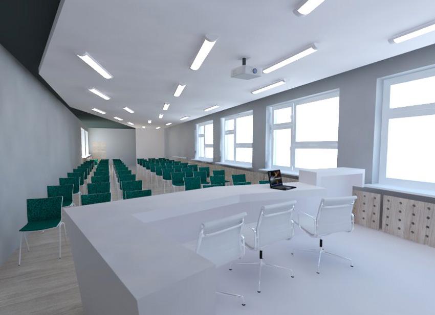 Sala konferencyją przed modernizacją - widok od przodu