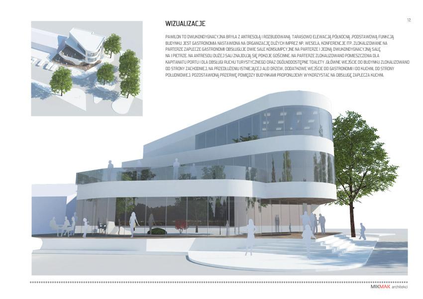 Projekt pawilonu handlowego w Krośnie Odrzańskim - wizualizacja