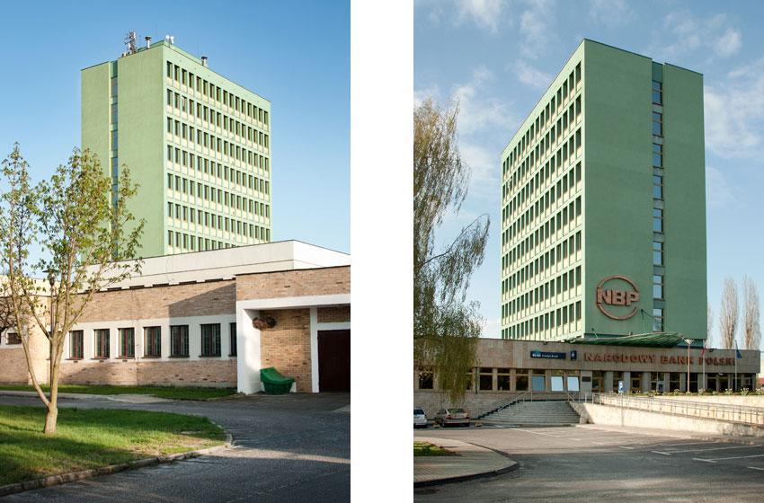 Projekt NBP w Zielonej Górze - widok wejść do budynku