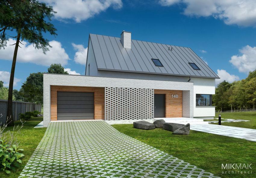 Projekt Vivo - nowoczesny jednopiętrowy dom z garażem
