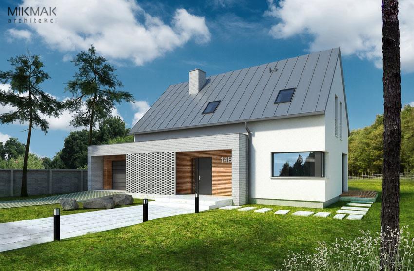 VIVO - wizualizacja domu od frontu