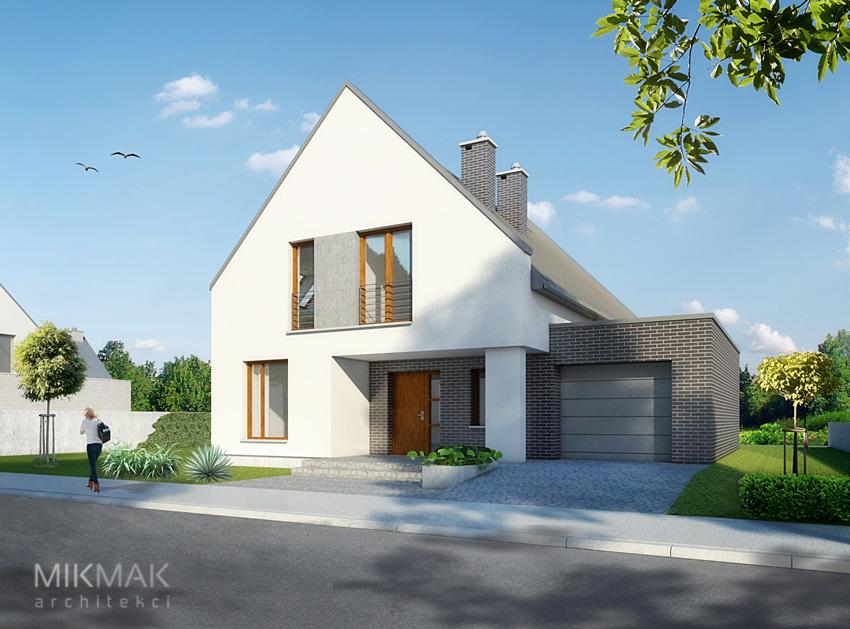 Projekt domu nowoczesnego jednopiętrowego z garażem
