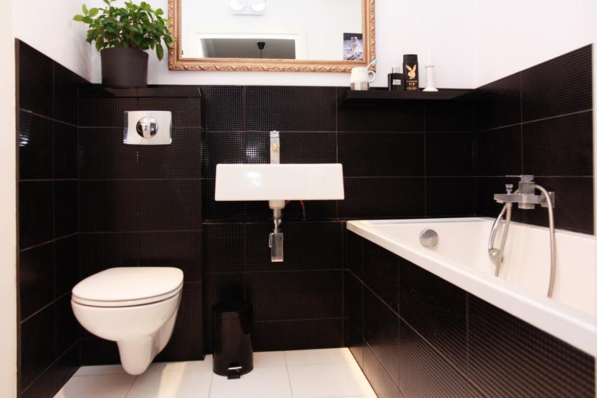 łazienka czarno-biała