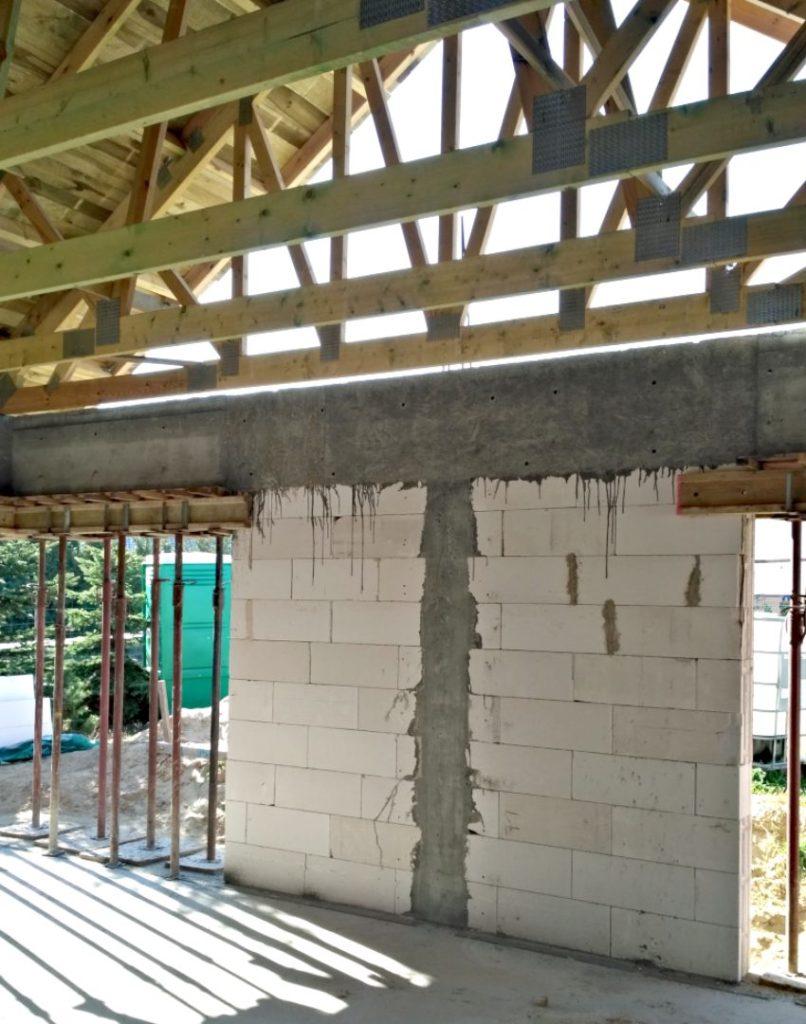 Wiązary dachowe w domu jednorodzinnym
